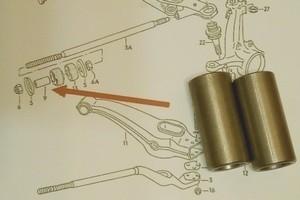 Распорная втулка рычага передней подвески T3 VAG 251407097