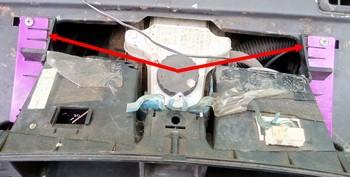 пластины для ремонта креплений приборки